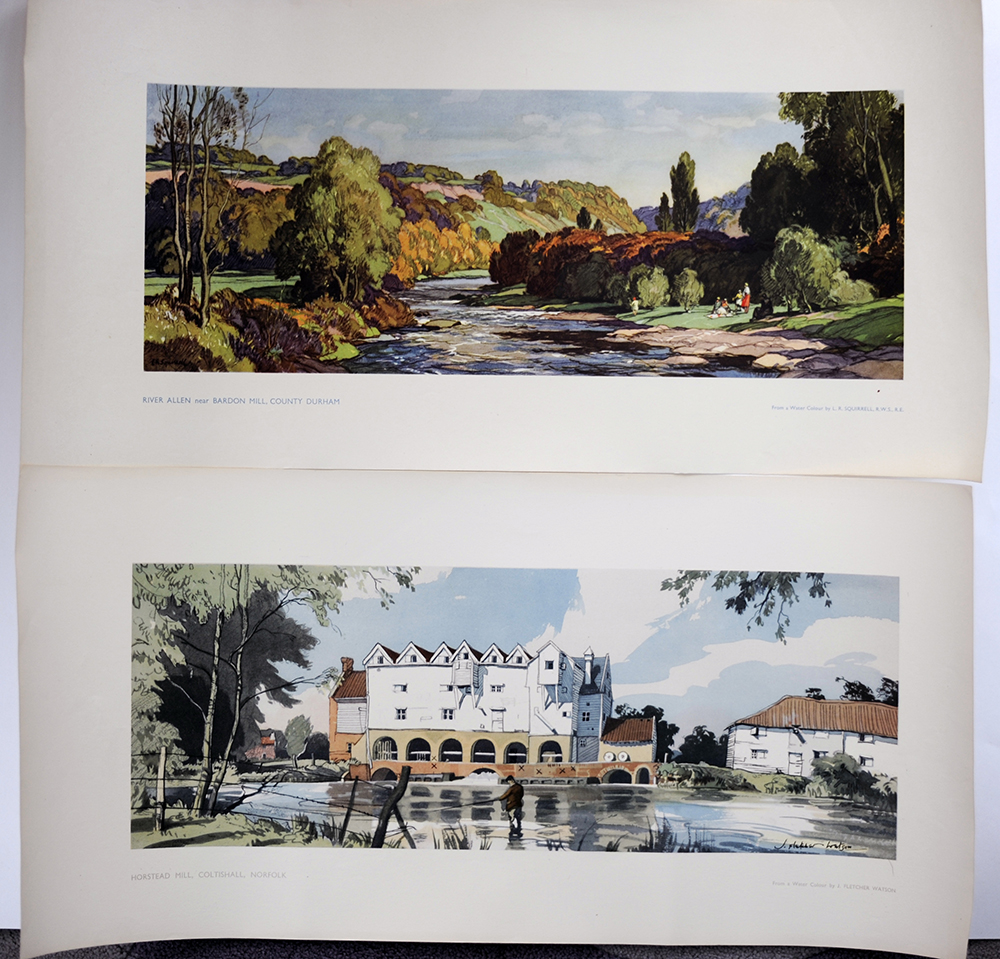 LNER Unissued Carriage Prints. HORSTEAD MILL In