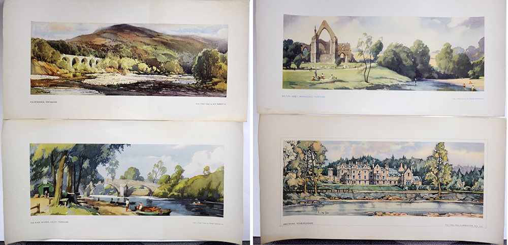 LNER  Carriage Prints X 4. Killecrankie