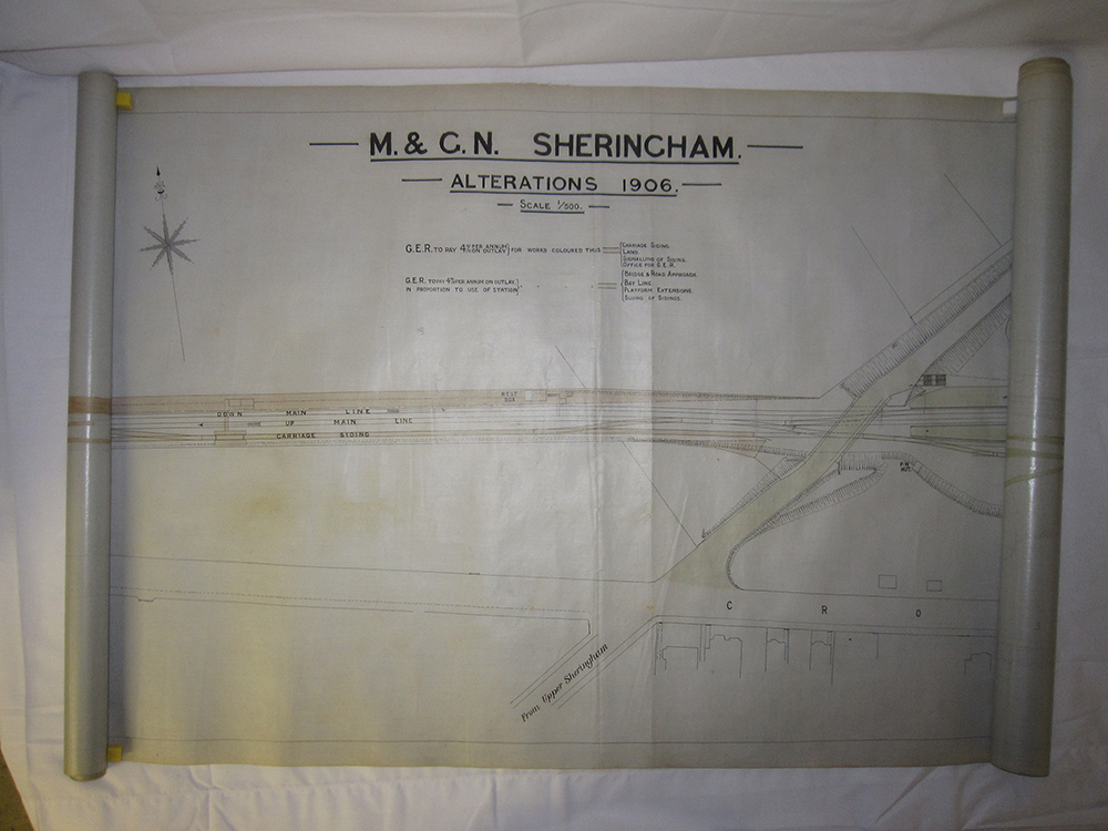 A Lot Containing M&GN Plans. 1906 Plan Of