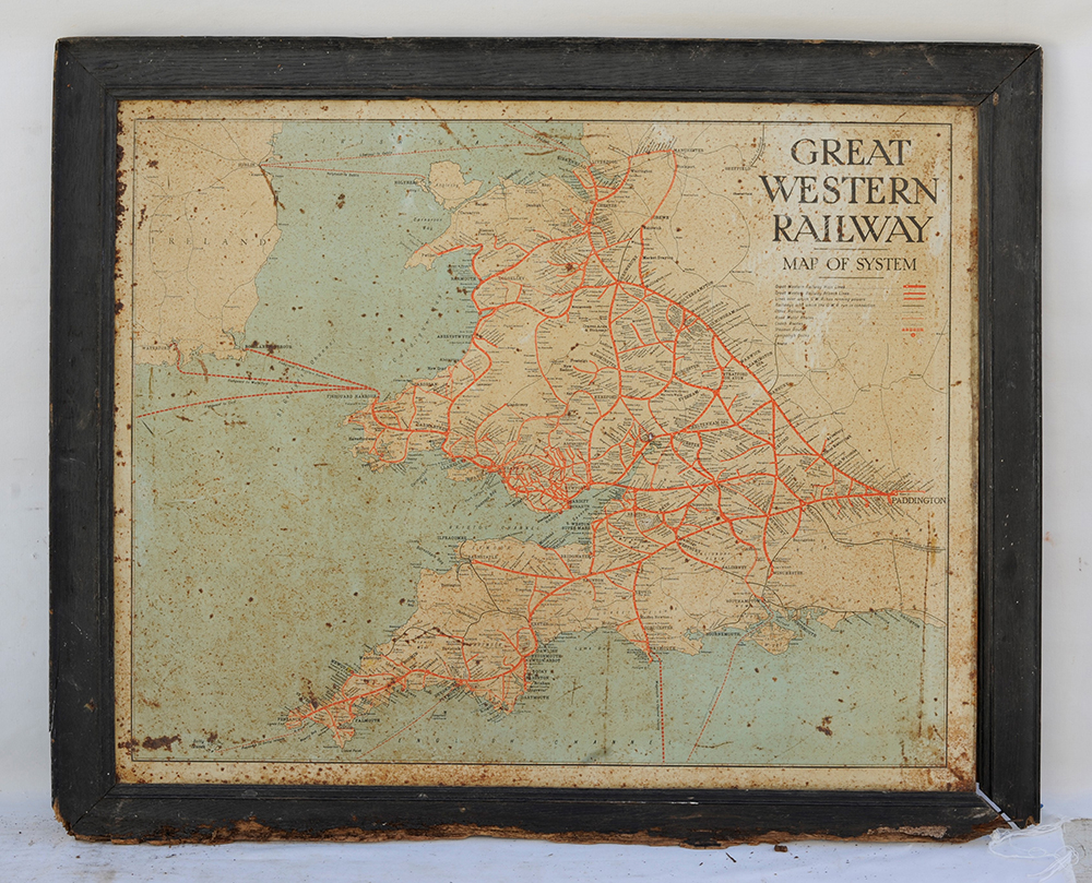 GWR TIN PLATE MAP Of The System. In Original