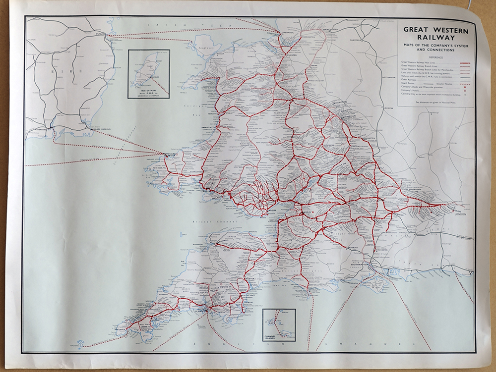 4 X GWR Poster Maps To Include Maps Of The
