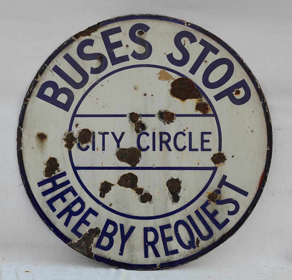 A Double Sided  Birmingham City Transport Enamel