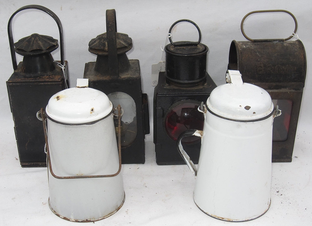 A Lot Containing 3 X General Purpose Oil Lamps
