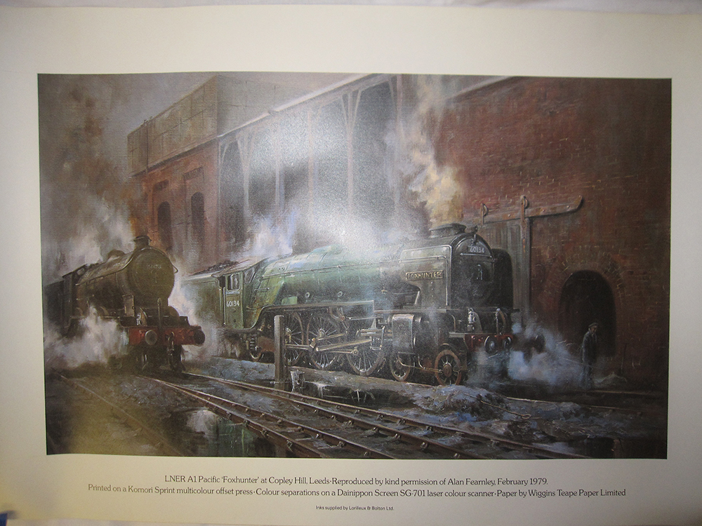 8 Rolled Prints Of LNER a3 Fox Hunter 60134 Dated