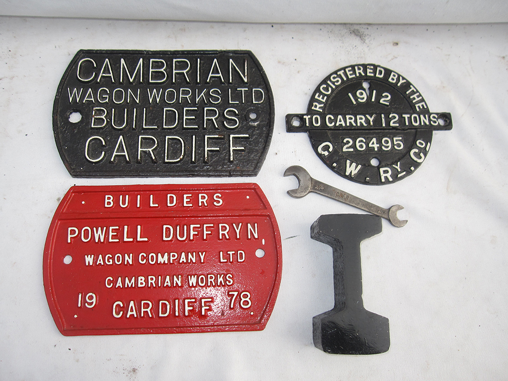 A Collection Of 3 X WAGON PLATES. CAMBRIAN WAGON