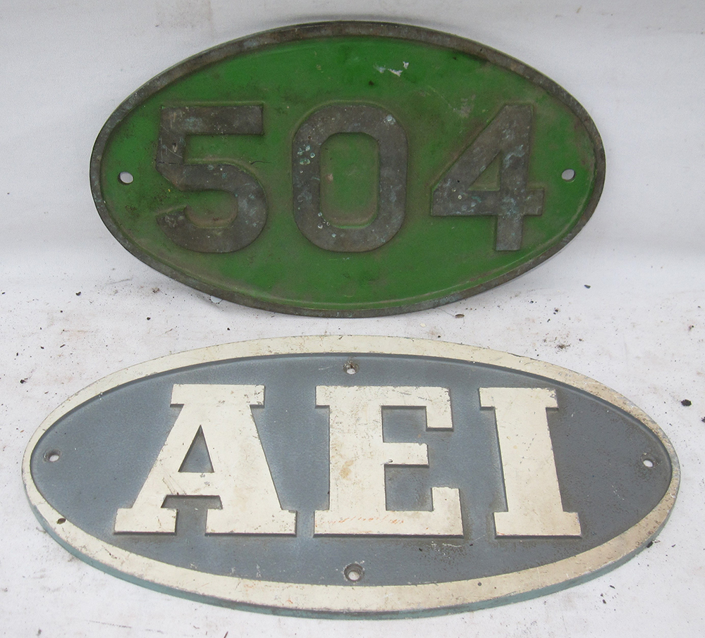 Oval Alloy Numberplate 504 From Workington Steel
