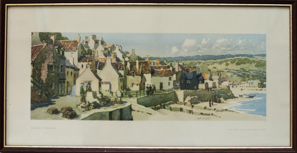 A Framed And Glazed Carriage Print. Staithes