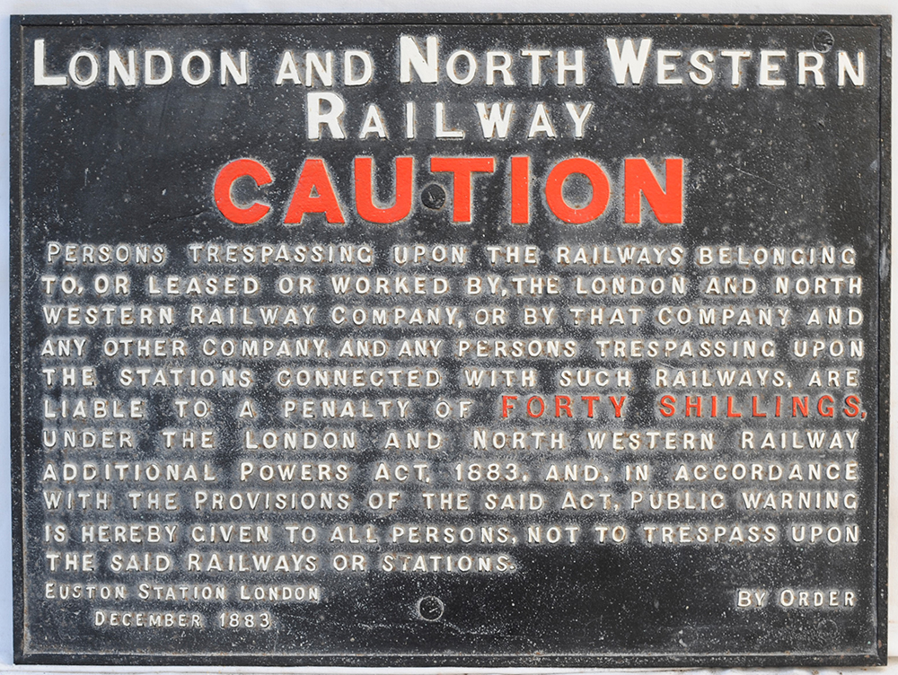 London North Western Railway Caution Not To