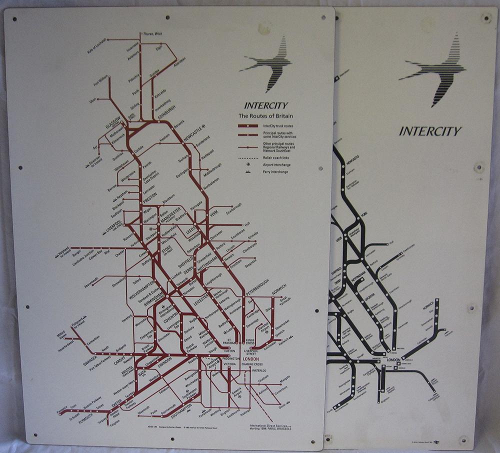 Modern Image Melamine Carriage Maps x2  BR