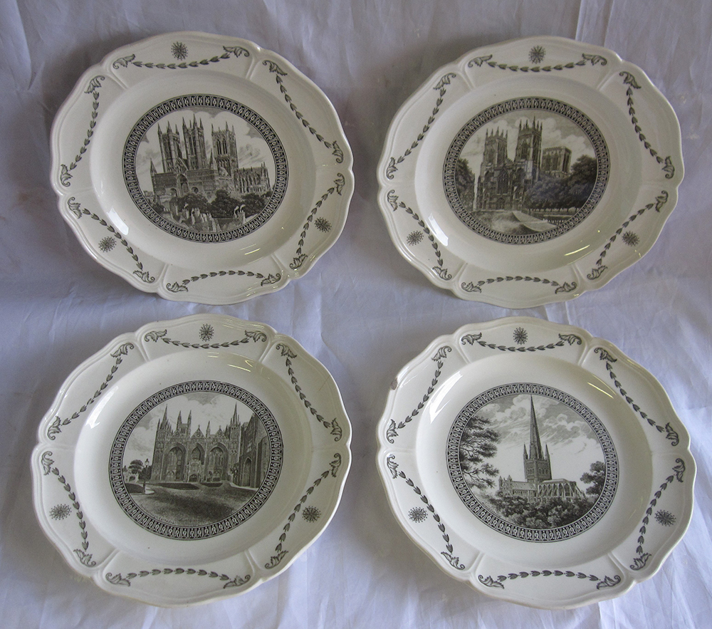 A Set Of 4 X Third Series LNER Cathedral Plates.