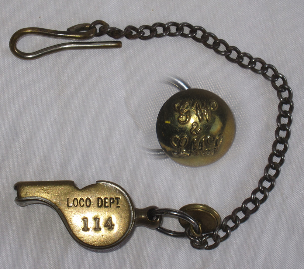 GWR Guards WHISTLE Stamped GWR And LOCO DEPT 114