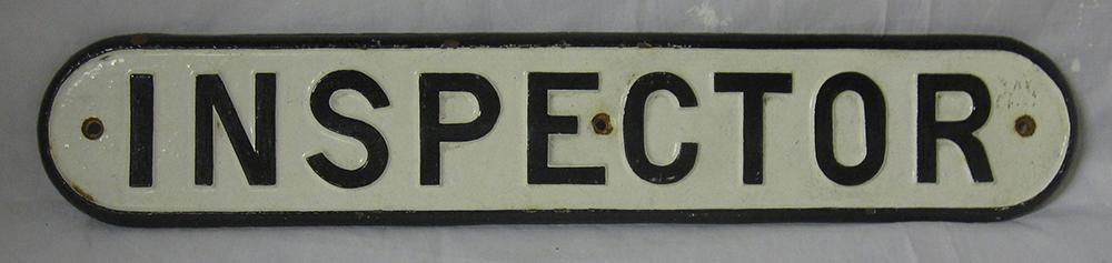 Reproduction Cast Iron LNER Door Plate. Inspector.