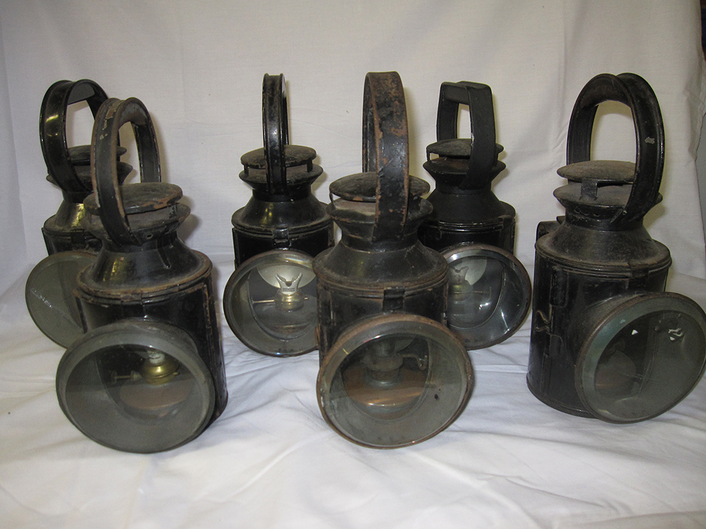 6 Railway Hand Lamps To Include 3 X LONDON