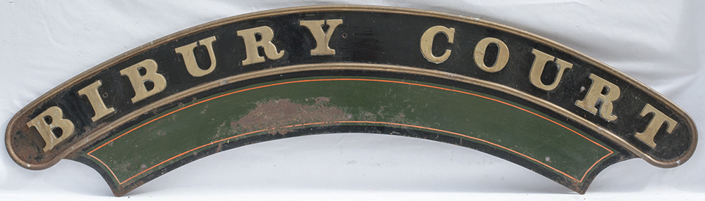 Reproduction GWR Nameplate Bibury Court. Full Size