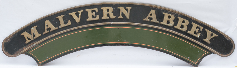 Reproduction GWR Nameplate Malvern Abbey. Full