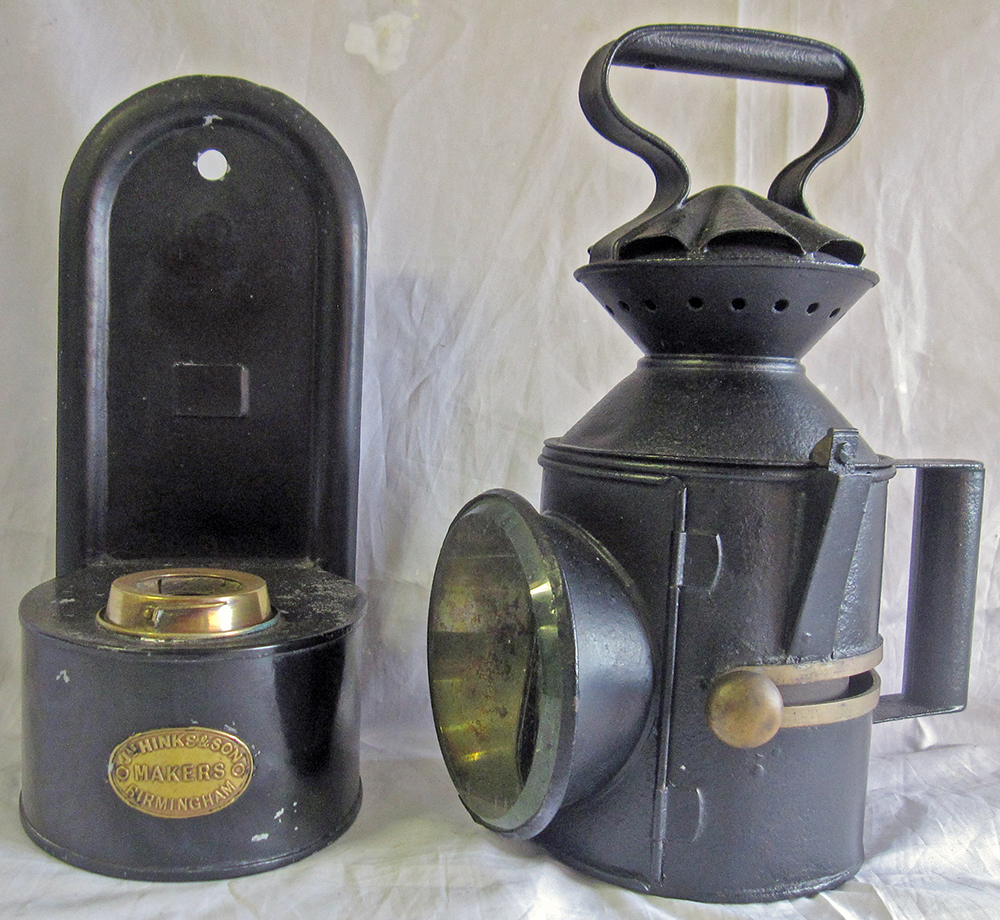 GER Handlamp Stamped W&W On Reducing Cone With