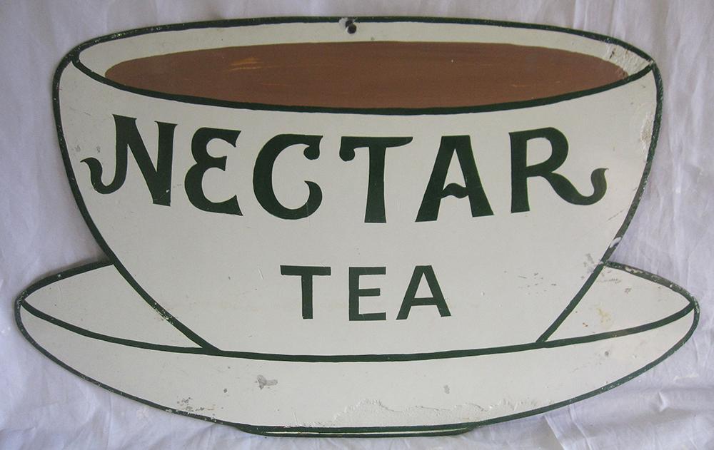 Enamel Advertising Sign. Nectar Tea. Good