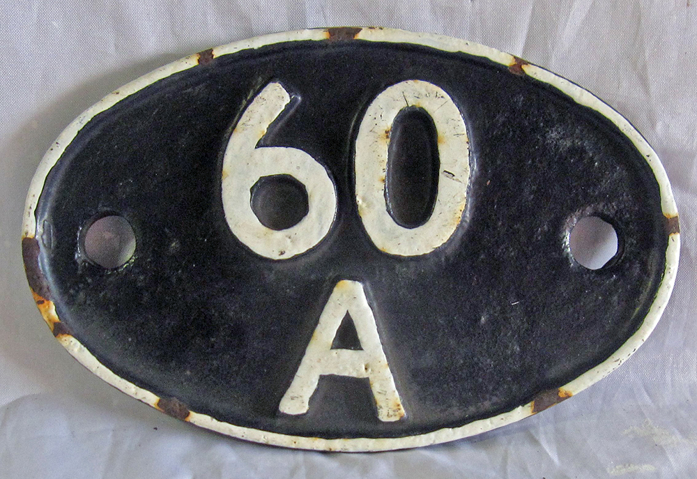 Inverness Cast Iron Shed Plate. 60a.