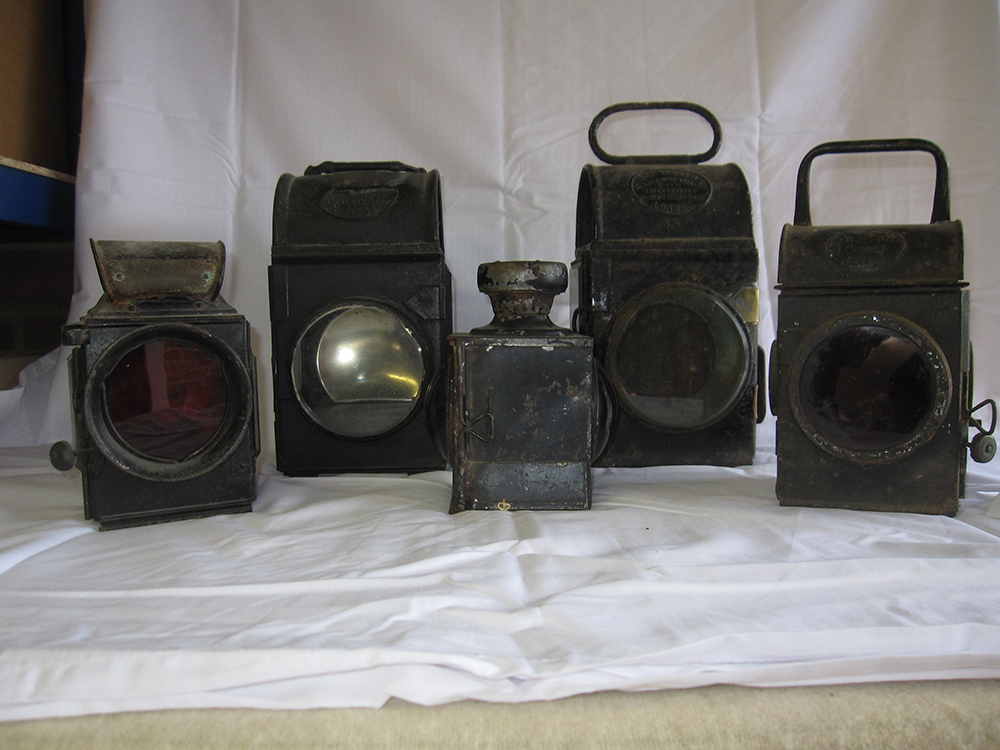Lorry Side Oil Lamps X 2 Plated Shadmason & Co And