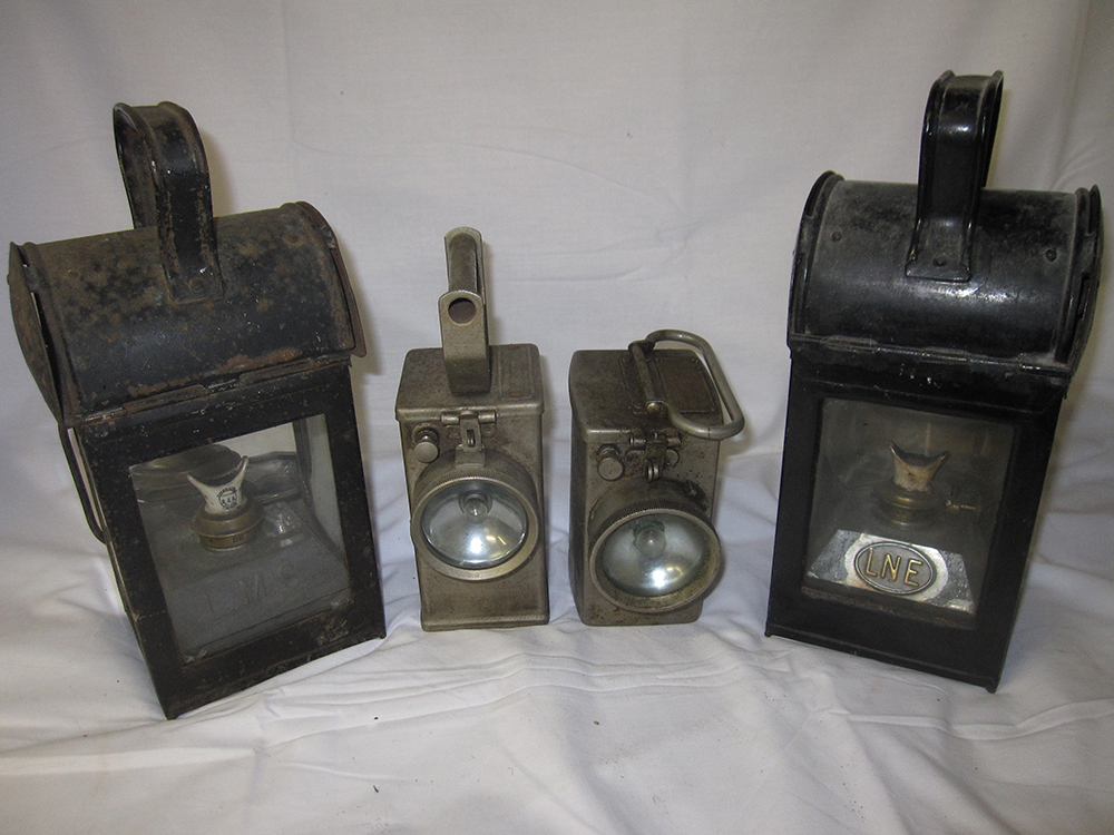 4 Railway Hand Lamps. 1 X LNER General Purpose. 1