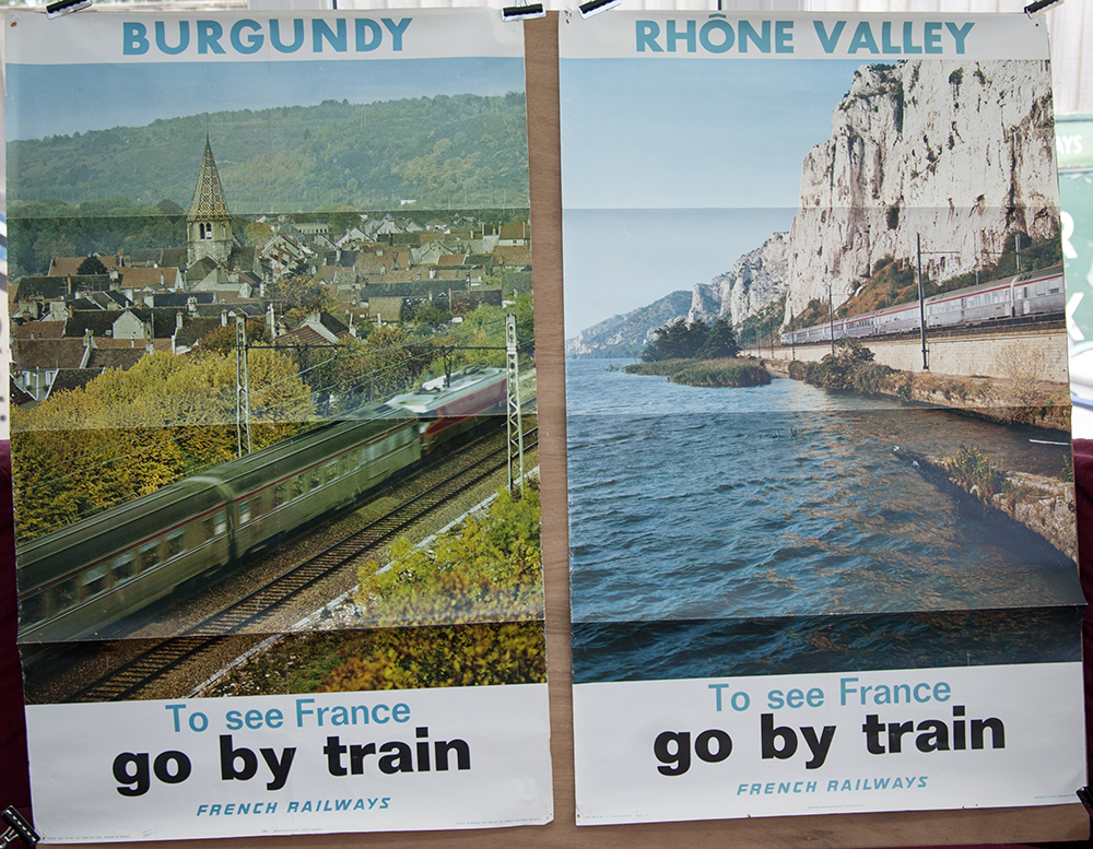 SNCF Photographic Posters X 2 Burgundy & Rhone