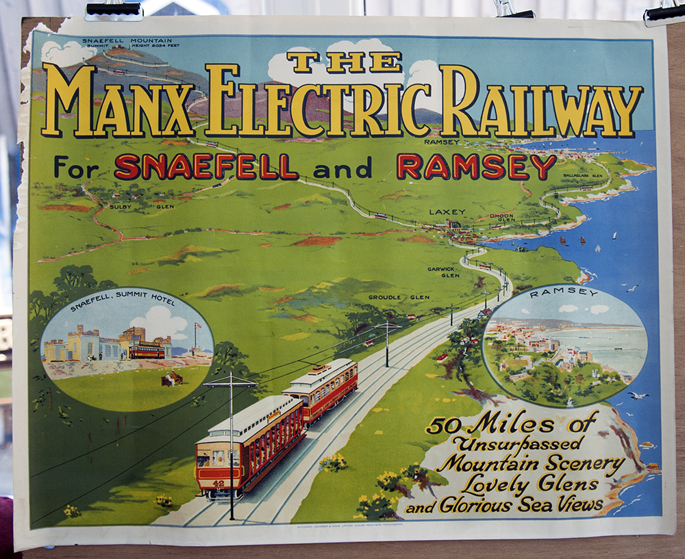 Manx Electric Railway Poster Snaefell And Ramsey.