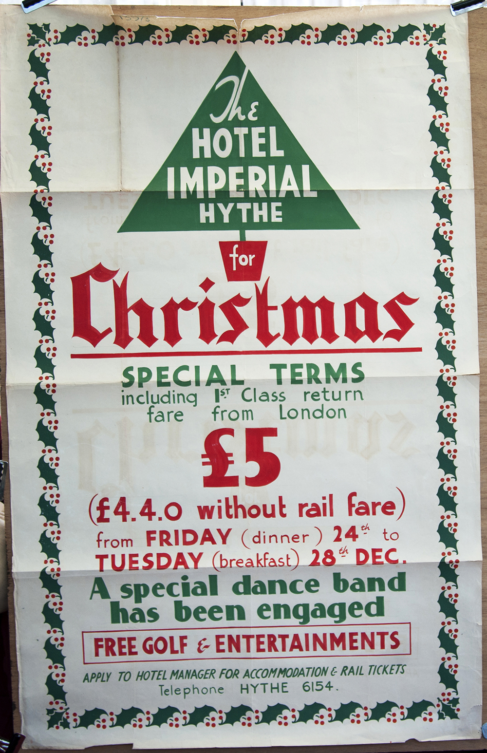 Poster The Hotel Imperial Hythe For Christmas,