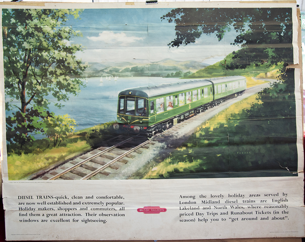 Poster BR(M) A Diesel Train On The Shore Of