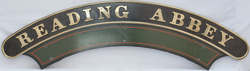 A Full Size GWR Style Nameplate Reading Abbey In