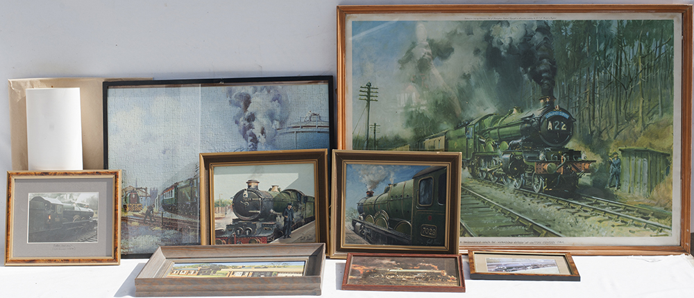 Original Oil Paintings Of GWR 7029 Clun Castle