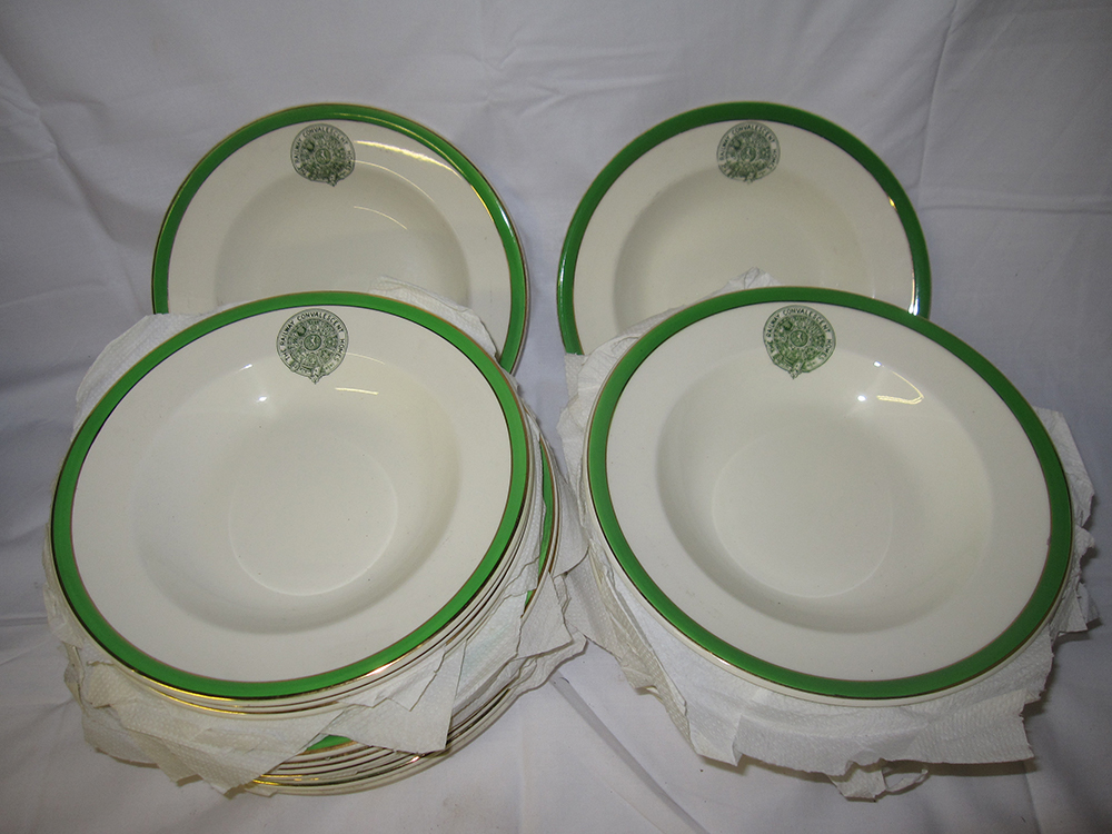 28 Railway Convalescent Homes Large Dinner Bowls