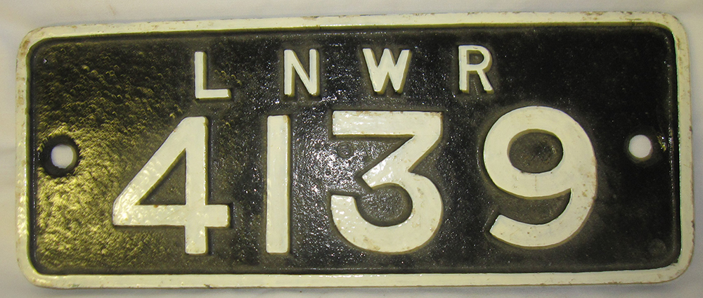 LNWR Cast Iron Crane Plate 4139.