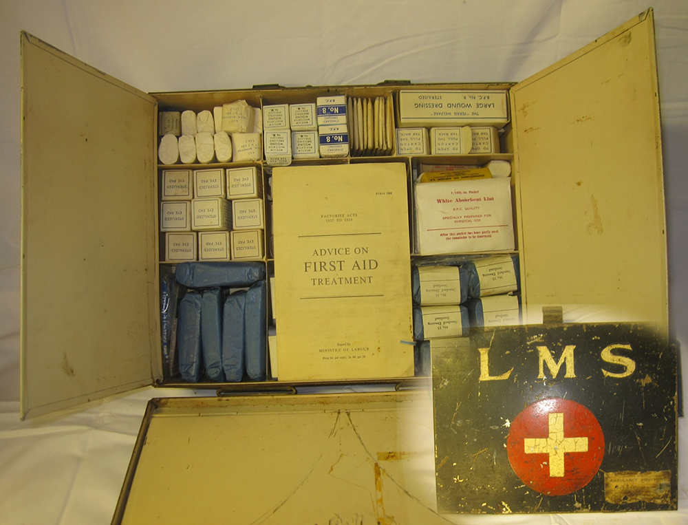 LMS Fist Aid Box Complete With Later BR Contents