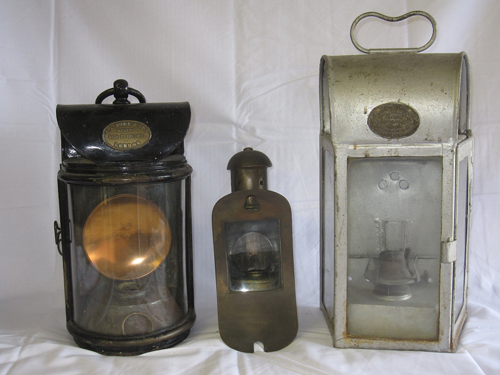 2 Paraffin Wall Lights With One Brass Unknown Lamp