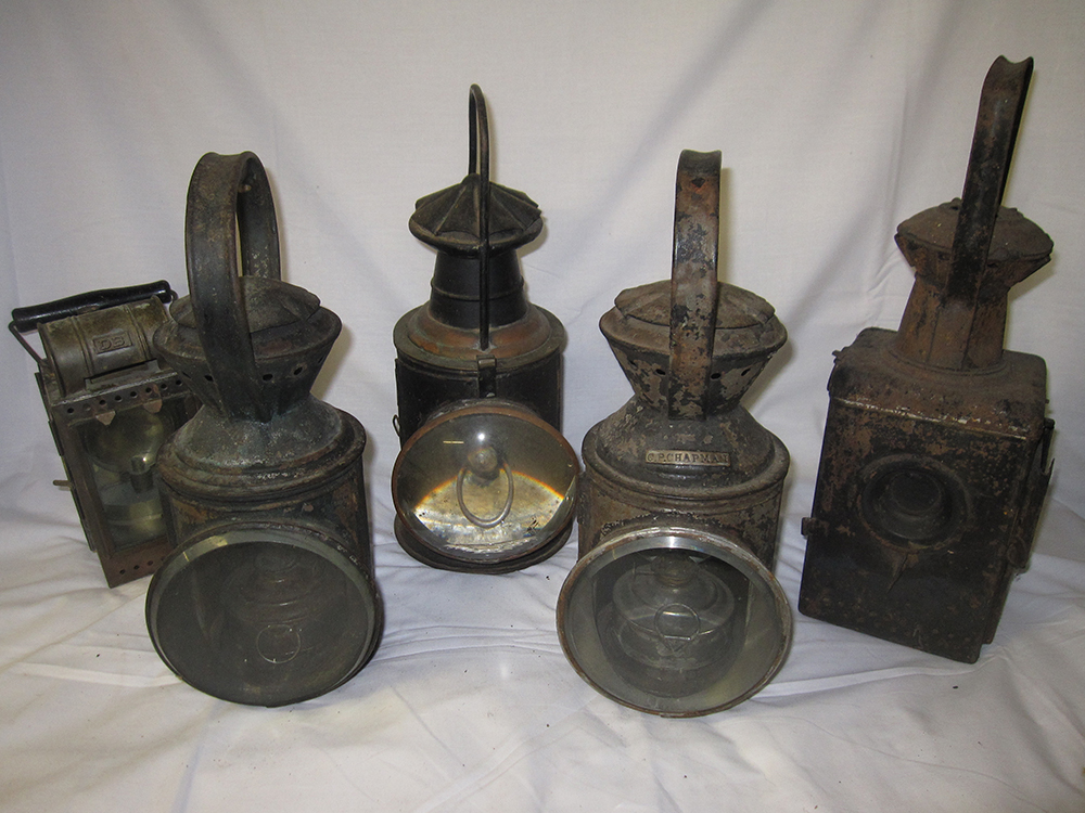 5 Railway Hand Lamps. Some Foreign. German And