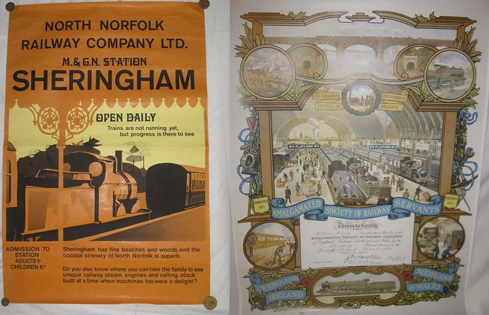 1970s Early North Norfolk Railway Poster With A