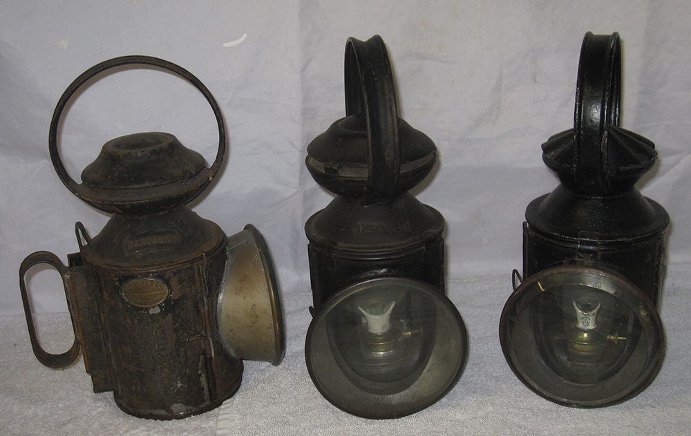 3 LNER Loco Dept Hand Lamps. One Stamped On Rear