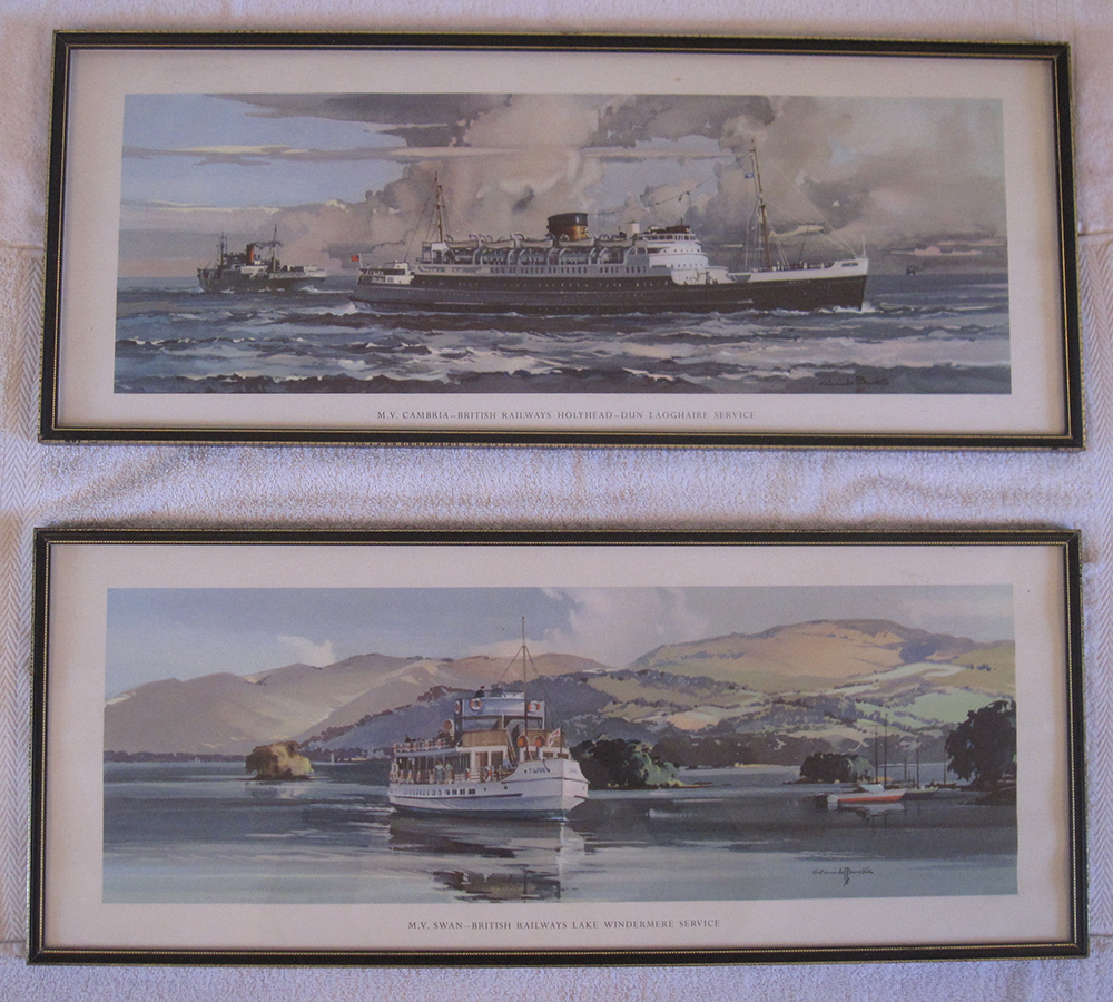 Framed And Glazed Carriage Prints MV Cambria And