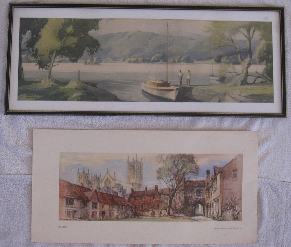 Framed And Glazed Carriage Print CONISTON Together