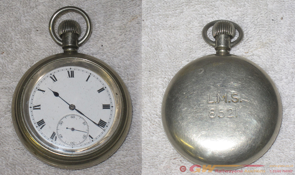 LMS Guards Pocket Watch Engraved LMS 8521 On Rear.
