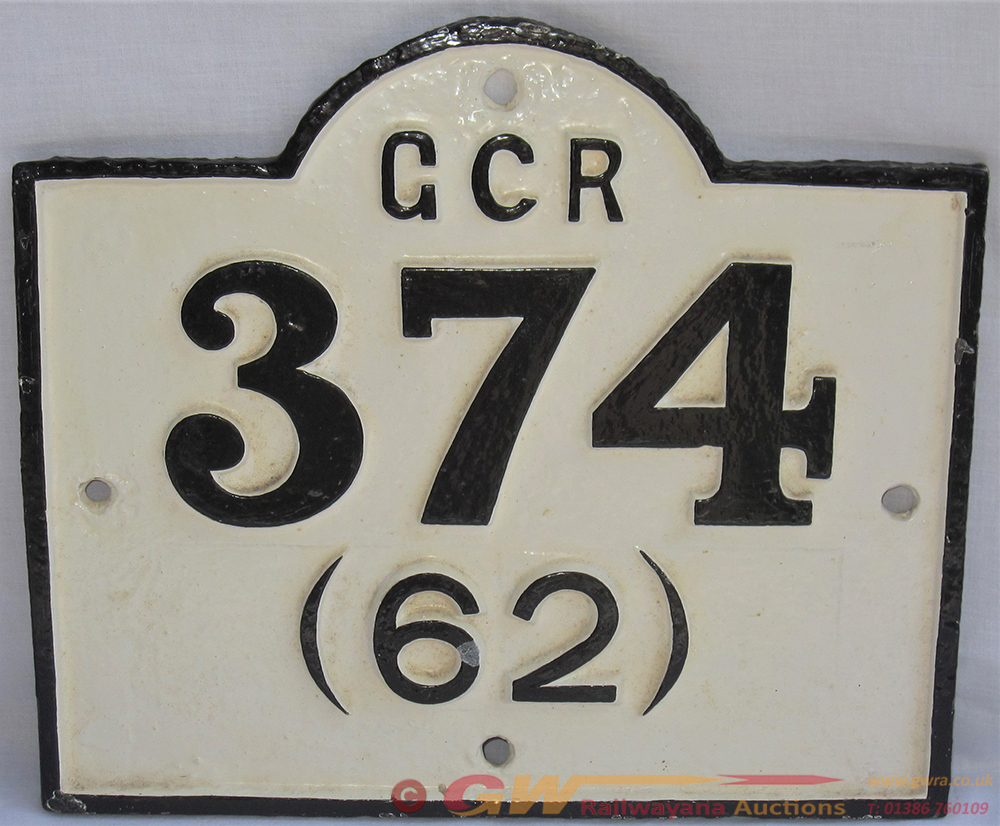 GCR Cast Iron Viaduct Number Plate GCR 372 (62).