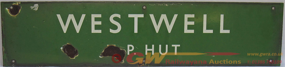 BR(S) WESTWELL T.P. Green Enamel Sign With Chips