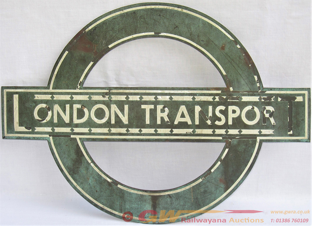LONDON TRANSPORT Bronze Target Sign. Location