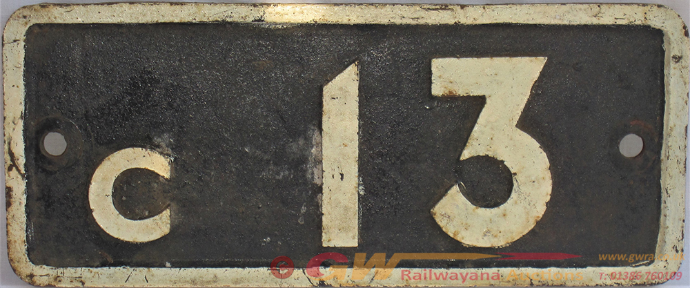 LONDON TRANSPORT Cast Iron Bridge Plate C 13 In