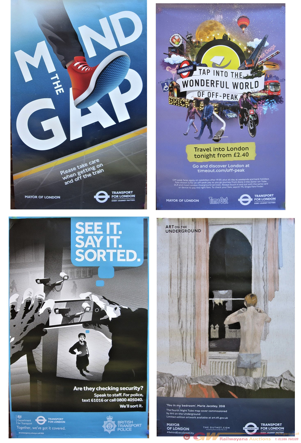 A Collection Of 8 X London Transport Posters To