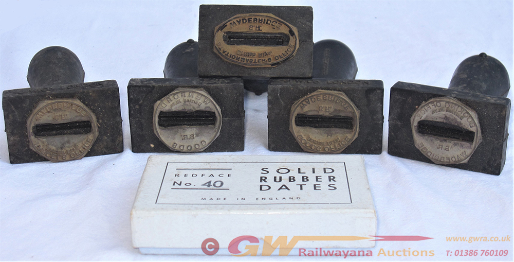A Lot Containing 5 X Rubber Stamps Recovered From