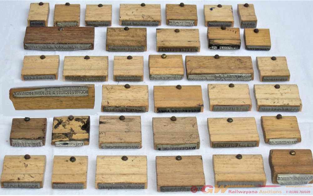 A Lot Containing 35 X Wooden Block Stamps To