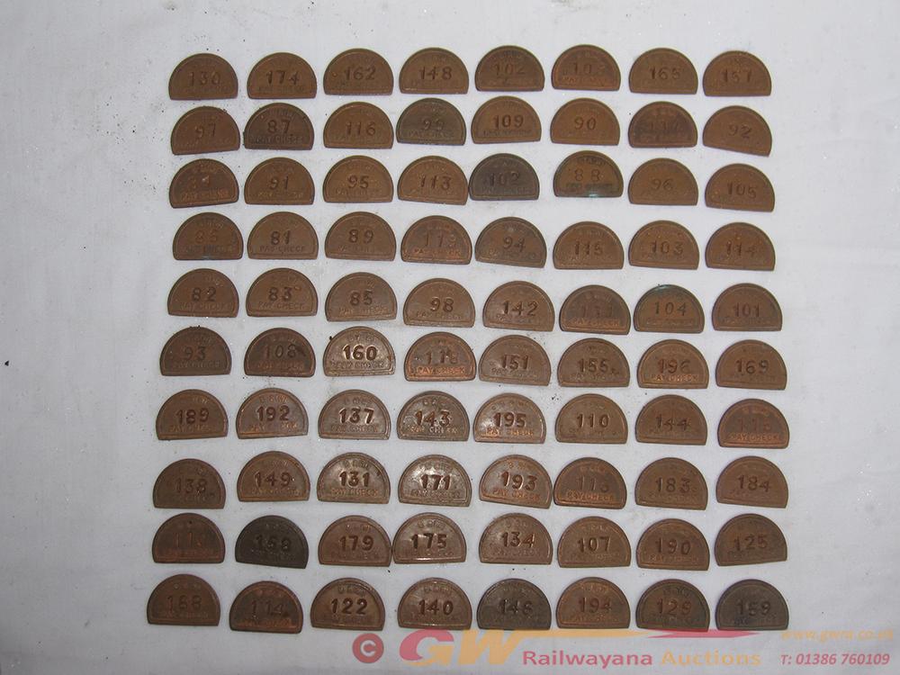 A Collection Of 80 BRW Half Moon Pay Checks Odd