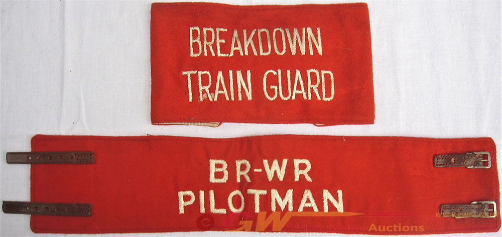 BRWR Cloth PILOTMANS Arm Band Together With A Rare