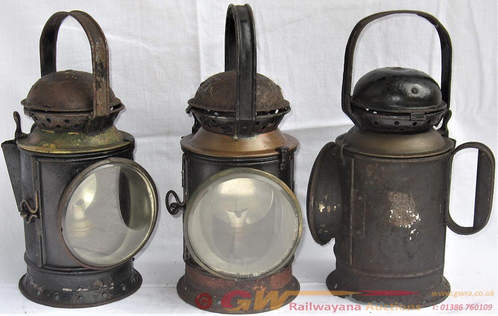3 X Brass Collar Hand Lamps. 1 X GWR Bladon 1938